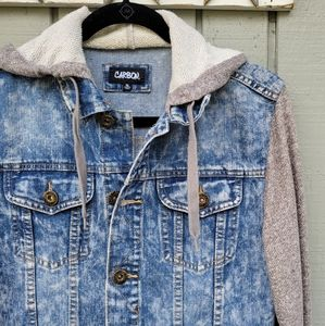 Carbon Denim & is a Sweatshirt Jacket